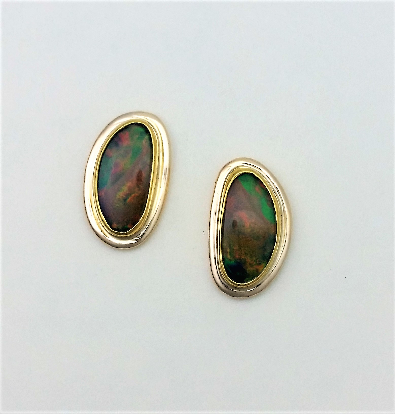 fire earrings in natural drop fancy and content opal yellow gold diamond