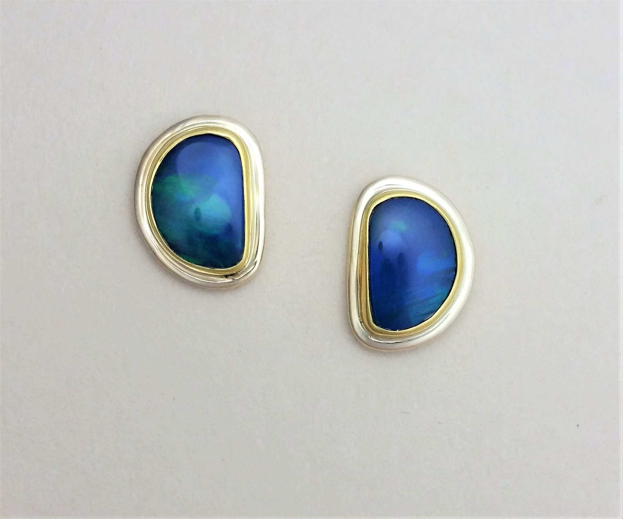 earrings amazon birthstone opal women tone round gold jewelry created for stud rose com dp girls