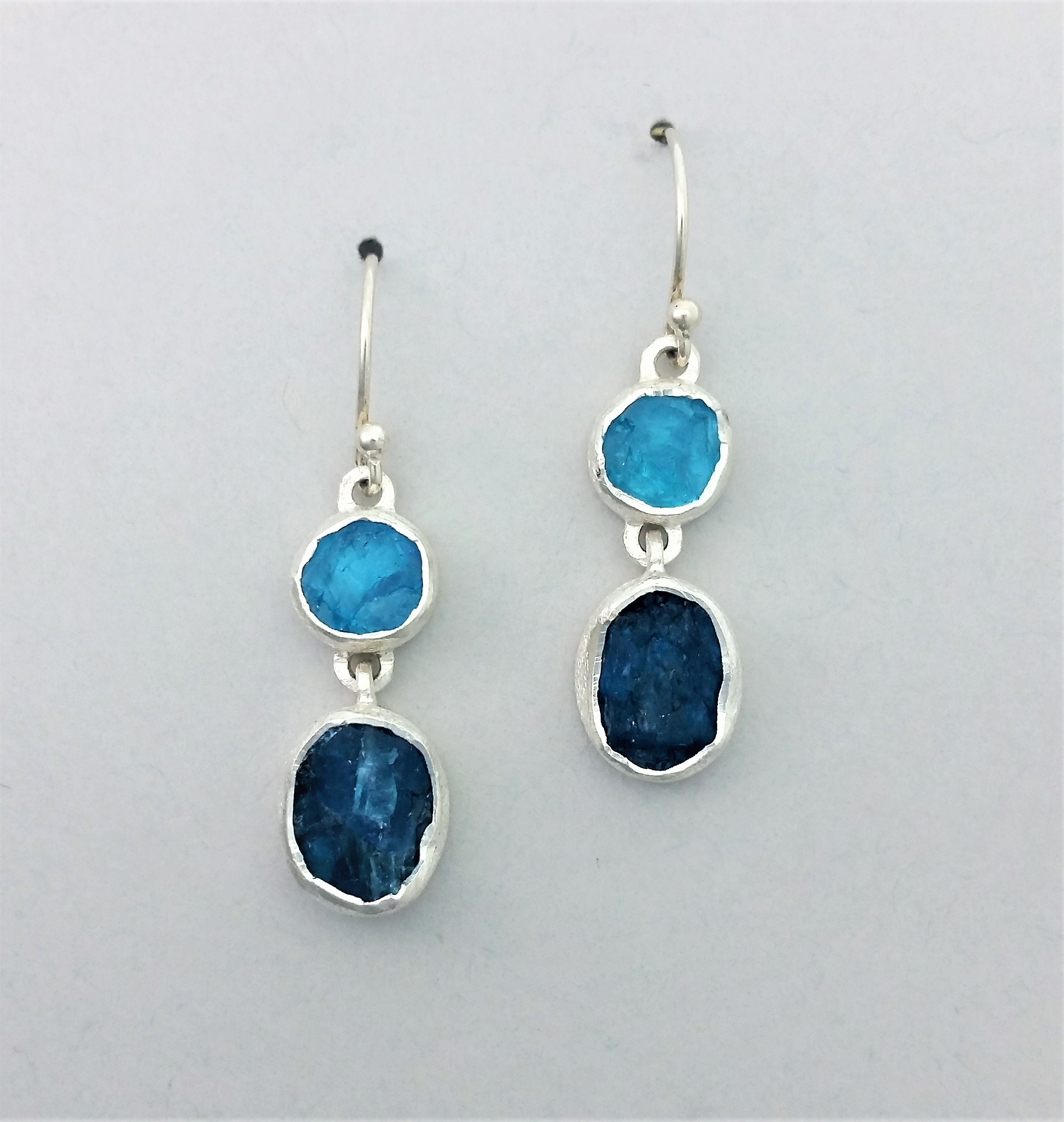 and earrings cluster apatite the sapphires gemstone topaz design blue tulip kyanite
